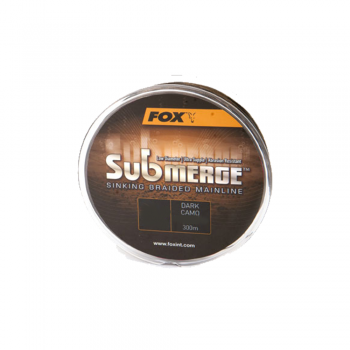 Fox Submerge™ Sinking Braided Mainline - Dark Camo 300m