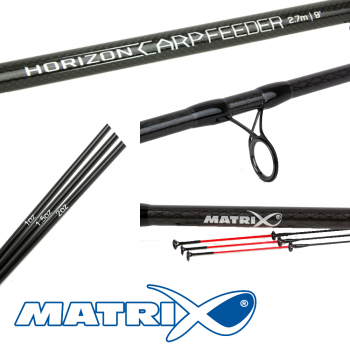 Matrix Horizon Carp Feeder Rods 10ft inc 3 tips 2pc