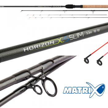 Matrix Horizon XS Slim Feeder 3.3m 2pc inc 2 tips